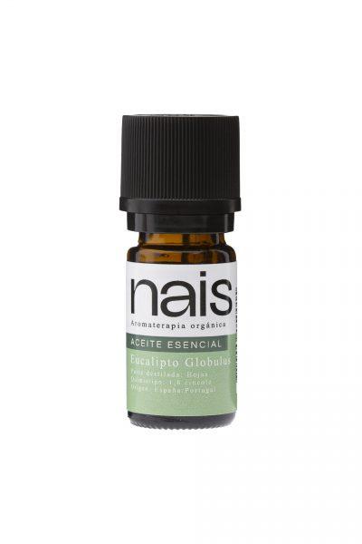 fraso de aceite esencial orgánico Nais de eucalipto globulus